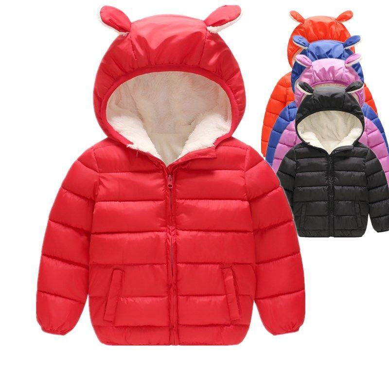 Enfants Garçons Vestes D'hiver Enfants Garçons Filles Down Parkas Manteau D'hiver Épais Chaud Polaire Outwear pour Enfant À Capuche Tenues
