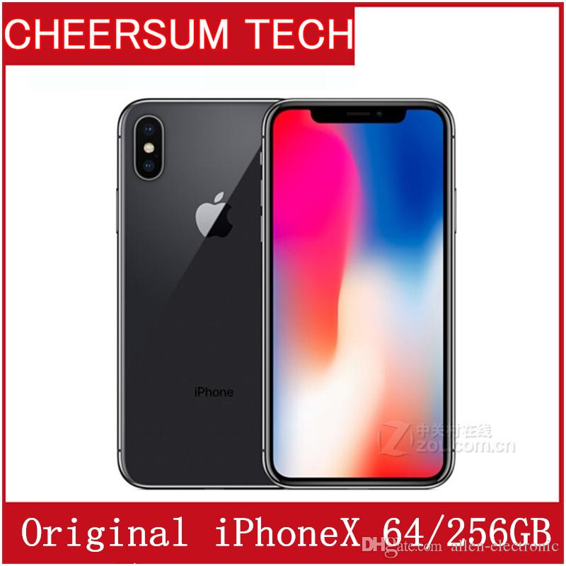 Original Unlocked Apple iPhone X iphoneX 4G LTE Mobile phone 5.8'' 12.0MP 3G RAM 64G/256G ROM Cellphone free DHL