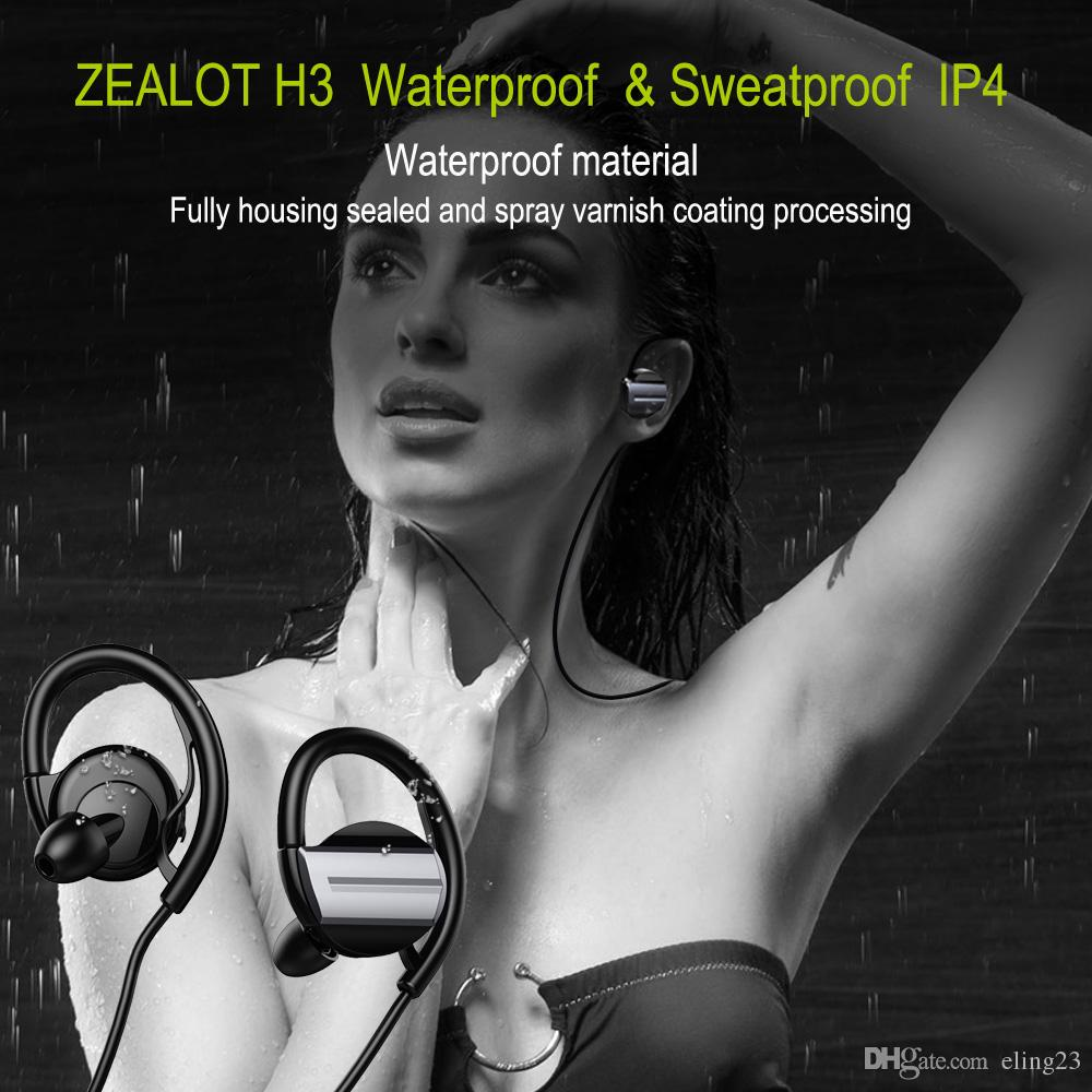 New arrival Zealot H3 Wireless Bluetooth V4.1 Waterproof Headphone Noise Isolation Sports Headset Auriculares Earphones Microphone for Phone