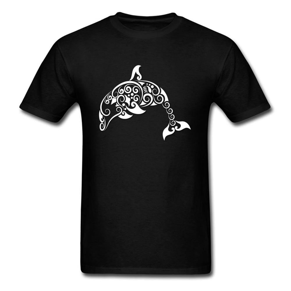 Dolphin Curl Tshirt Youth Company Tops & Tees O Neck Summer 100% Cotton Awesome T-Shirt Casual Homme Tee-Shirt 2018