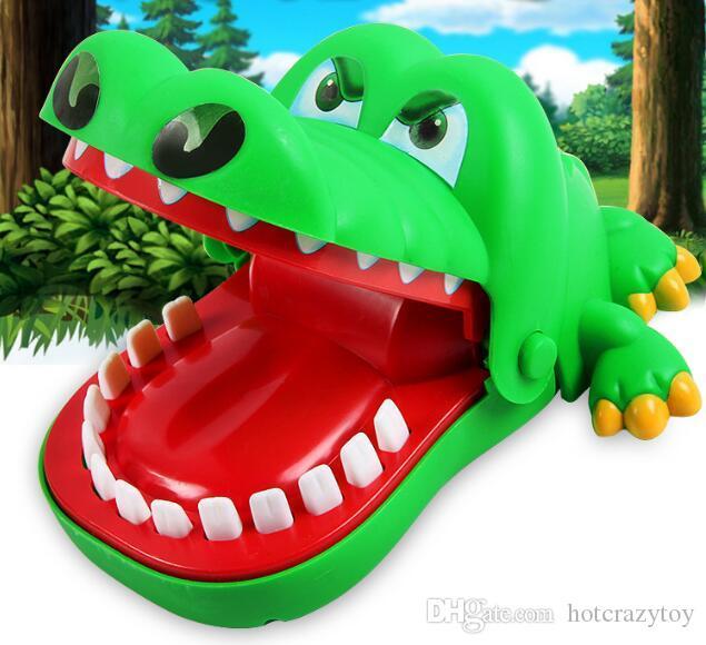 فم كبير التمساح دغة إصبع التمساح الشخص كله لعبة التمساح طفل هدية لعبة لعبة مضحكة
