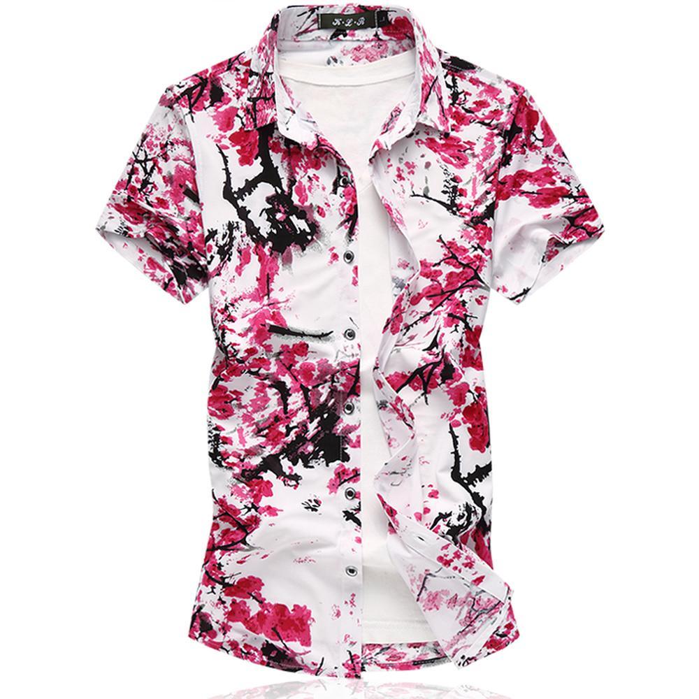 Moda Drukowane Koszule Mężczyźni Hawajska Koszula Lato Krótki Rękaw Dorywczo Topy Coon Wysokiej Jakości Duży Rozmiar 5XL 6XL 7XL Męskie ubrania