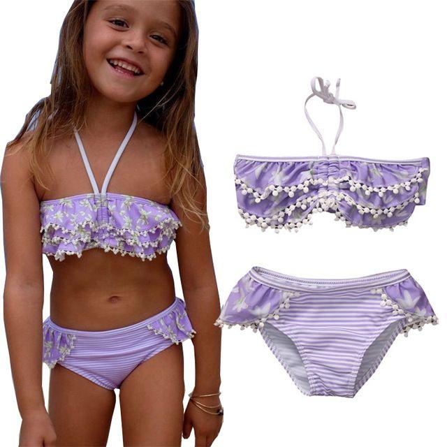 Großhandel Floral Kids Baby Mädchen Bikini Anzug Badeanzug Bademode