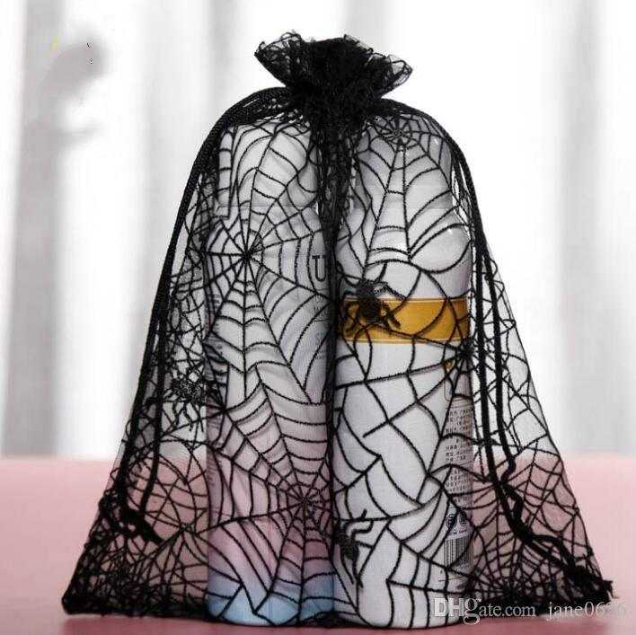 100Pcs/lot Spider Web Bag 20X24CM Organza Bag Jewelry Gift Pouches Bags For Wedding favors drawstring Bags