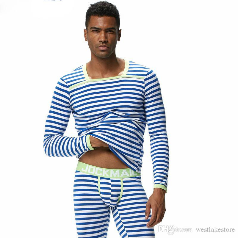 Мужчины термобелье длинные Джонс наборы 2 шт. топы + брюки нижнее белье cueca гей нижнее белье леггинсы трусы Мужские тепловой
