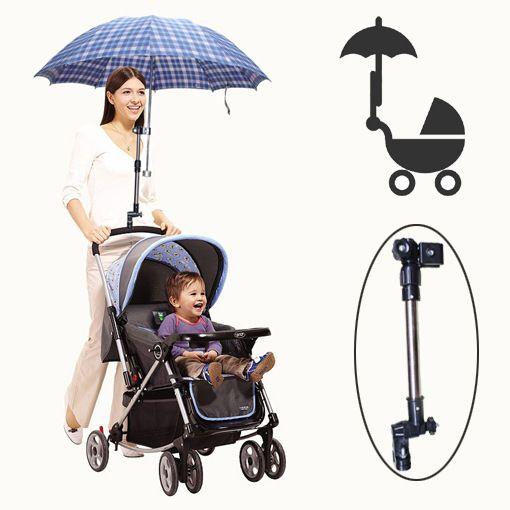 조정 가능한 아기 유모차 우산 홀더 아기 자동차 우산 괄호 스트레치 스탠드 홀더 유모차 액세서리 자전거 우산