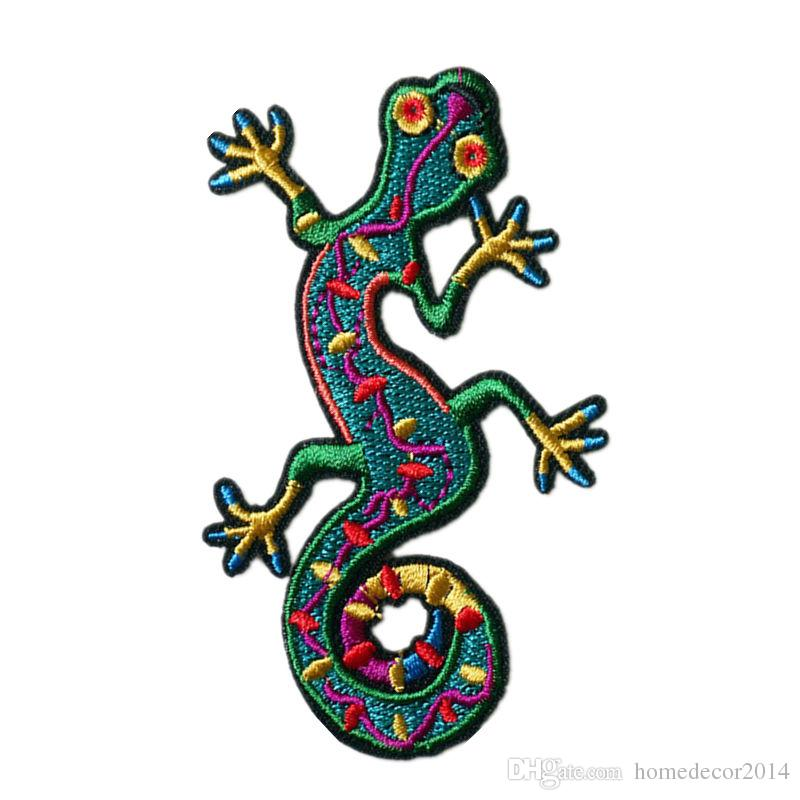 Gecko Lizard Embroidered Iron Sew On Patch Badge Clothes Bag Embroidery Applique