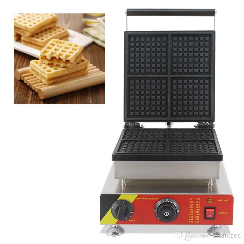 Commercial Type Non-stick Belgian Waffle Machine 110v 220v Egg Waffel Maker Baker Wafer Biscuit Iron Pan Cooking Grill Mould