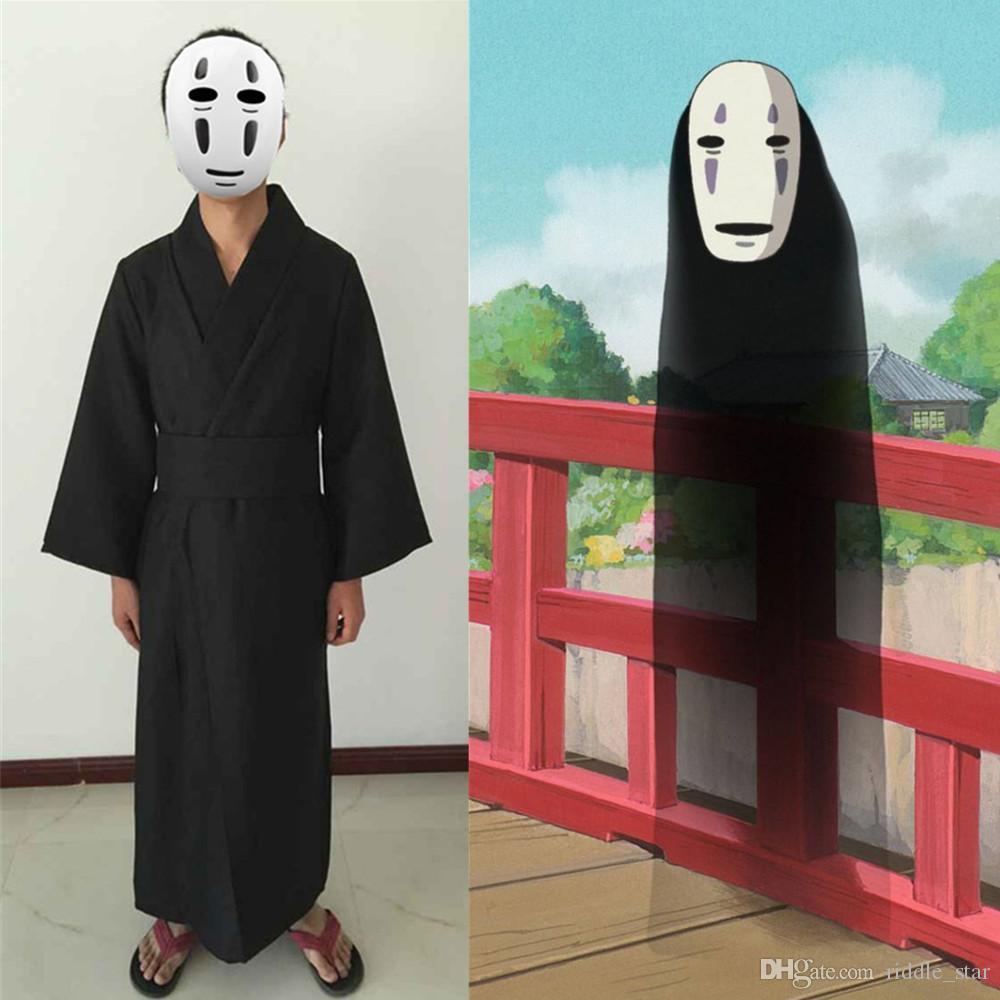 Asya Boyutu Japonya Anime Ruhların Kaçışı Yok Yüz Adam Cosplay Kostüm Unisex Parti Üniforma Pelerin Kimono