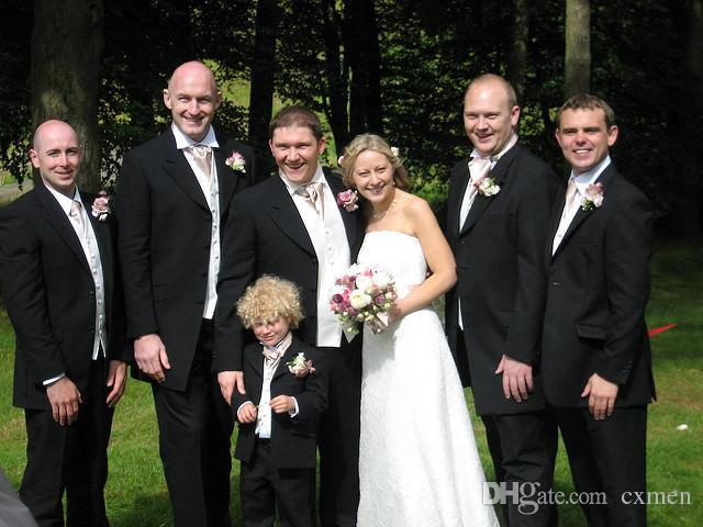 Custom Black Men Suits for Wedding Formal Bridegroom Suit Groom Tuxedos Men's Classic Suit Best Man Blazer Best Party 3 Pieces
