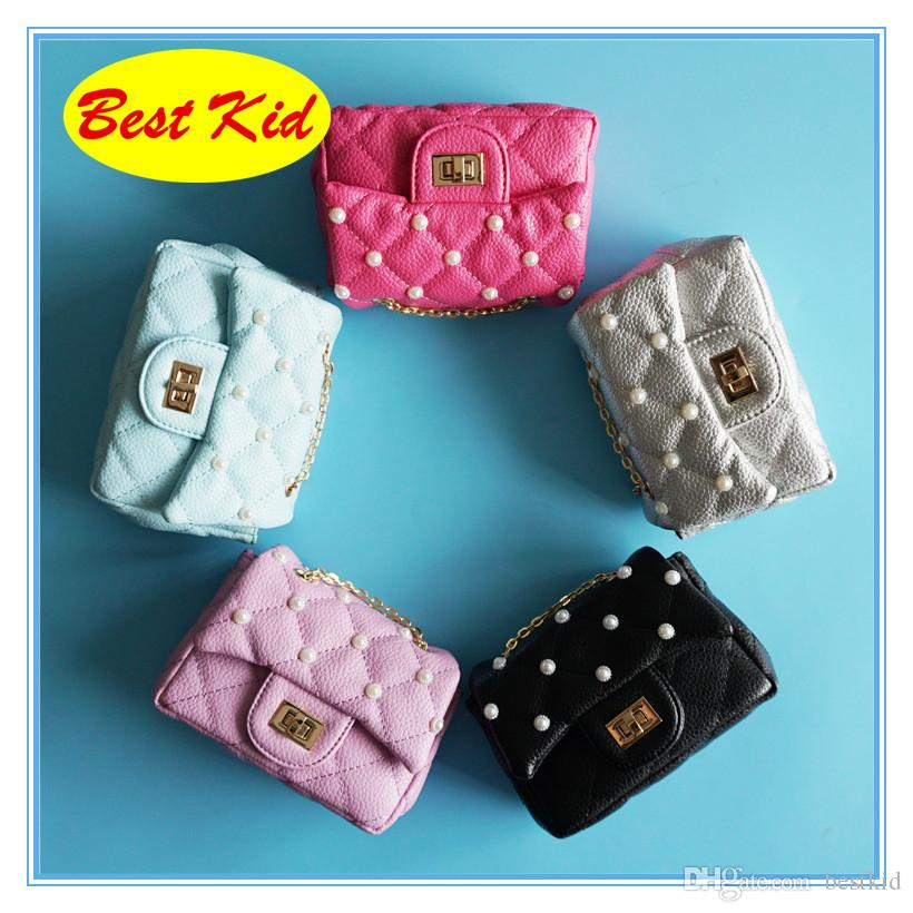 BestKid DHL Free Shipping! Lovely Stylish Shoulder Bags for Childrens Baby girls Small Pearl Purse Toddelrs Coin bag Kids Brand bag BK048