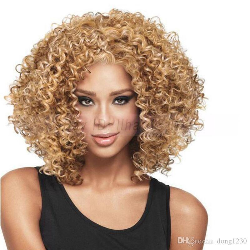 Finger Wave Hair Synthétique Complète Perruque Doux Puff Micro Curl Naturel 4 Mode Femmes