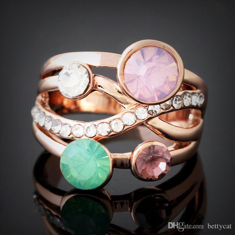 Новое прибытие женщины ювелирные изделия кристаллы алмазного сплава элементы Любовь День Святого Валентина Рождественский фестиваль подарок