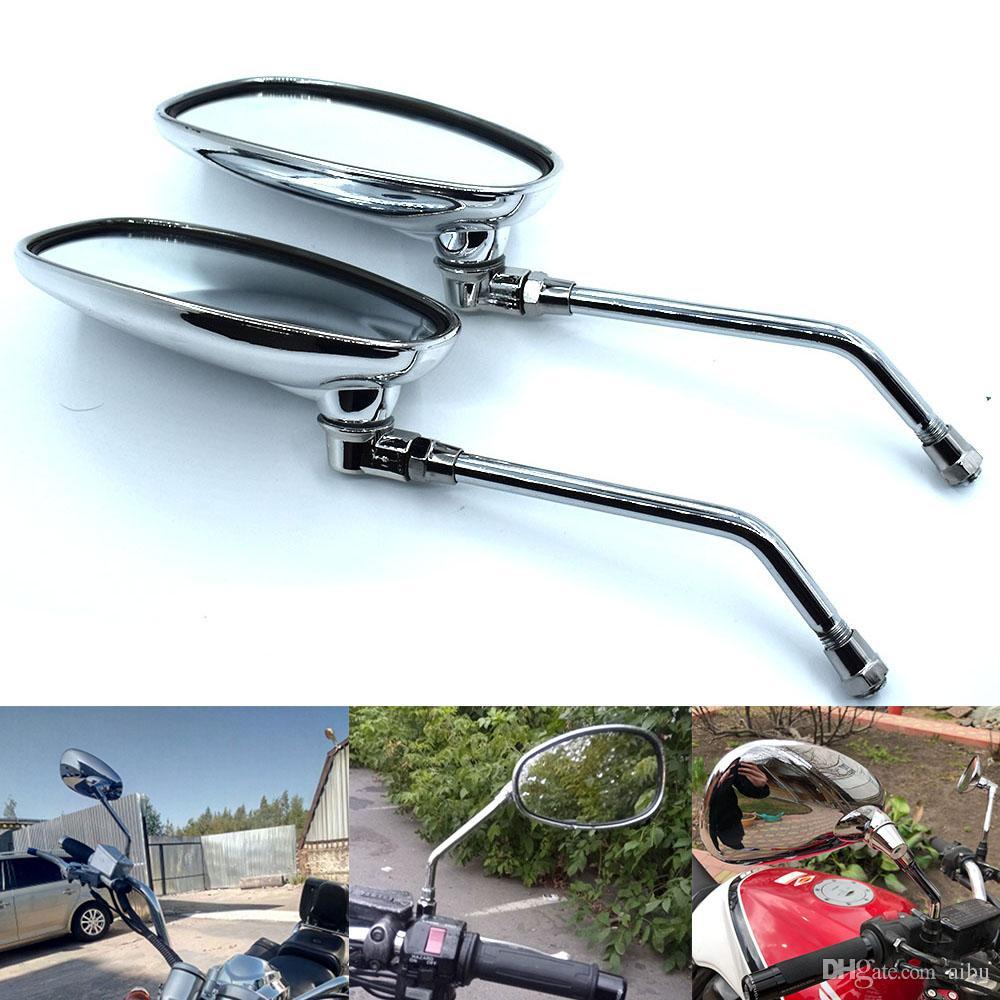For Motorcycle Rear View Mirrors ABS Plastic Vintage Retro Rearview Mirrors For Kawasaki BMW Suzuki KTM Benelli Honda Yamaha