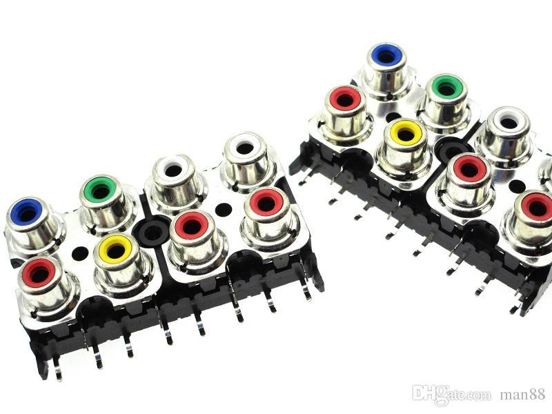 El nuevo conector de audio RCA Cinch de 8 orificios RCA-813D cobre pie