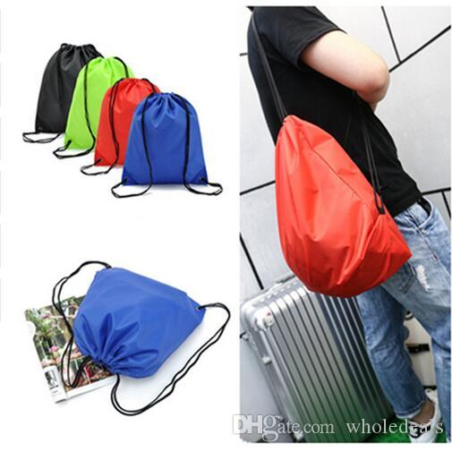New Waterproof Nylon Storage Bags Drawstring Backpack Baby Kids Toys Travel Shoes Laundry Lingerie Makeup Pouch