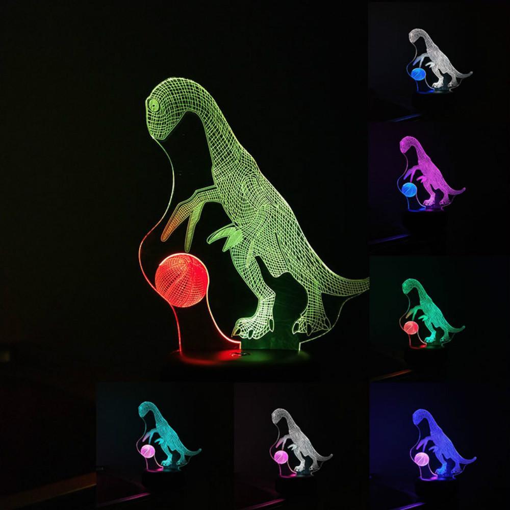 Cartoon-Drache anspielen Mischfarben-Nachtlicht-Touch-3D-LED USB-Lampe Tabelle Dekorative Kid Kreatives Spielzeug Großhandelsdropshipping