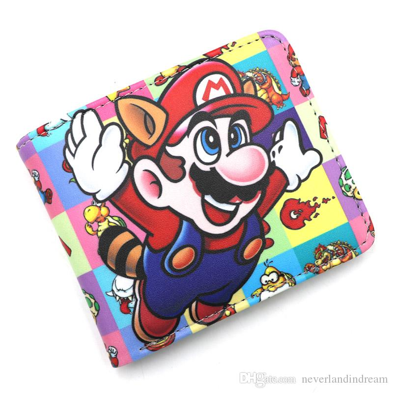 Colorful Cosplay Anime Super Mario Bros Card Holder Wallet Men Women Short High Quality Leather Purse Cool Gift Money Bag
