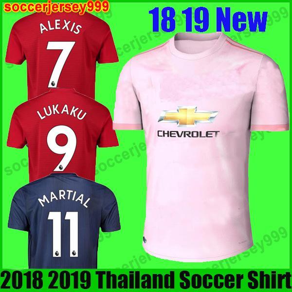 size 40 ff28d 6886d 2018 Top Thailand 18 19 Fc Manchester United Soccer Jersey 2018 2019 Utd  Jerseys Pogba Lukaku Rashford Alexis Football Shirt Adult Men Uniforms From  ...