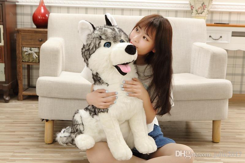 55cm Simulation German shepherd Plush toy Big Size SIBERIAN HUSKY Stuffed Animal Doll for children best birthday gift