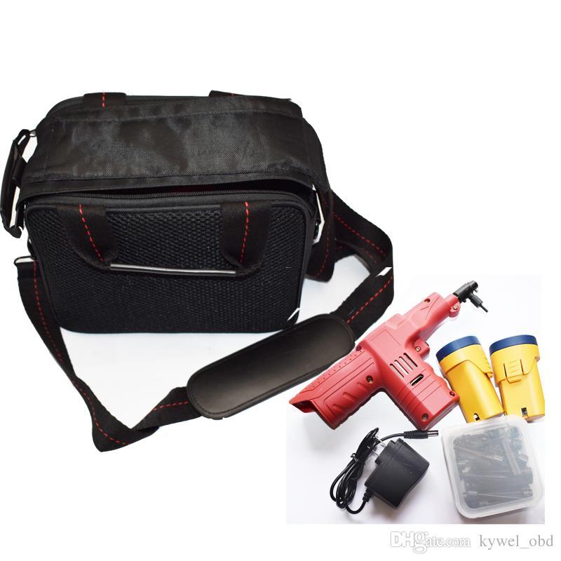 Nova Chegada 2018 Eletrônico Bump Gun Lock Ferramenta de Escolha para Kaba Bloqueio Porta com 45 pinos Cabeças 2 Baterias Batteries Bag Ferramentas Ferramentas