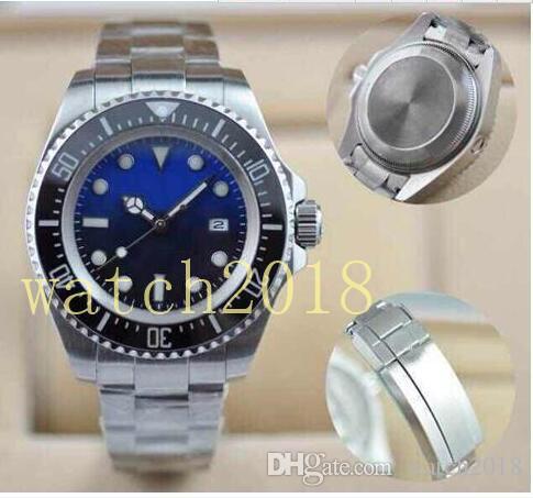 Prestiżowy Zegarek Boże Narodzenie Gift Mens Watch Wristwatch Ceramiczny Bezel Oryginalny Zapięcie Sapphire Szkło Ze Stali Nierdzewnej D-Blue Quality Wewdweeller Li