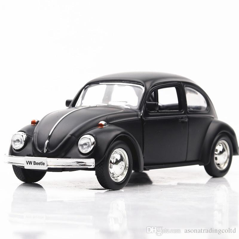 1:32 VW Beetle Diecast Alaşım Modeli Hediye Araba Koleksiyonu Geri Çekin