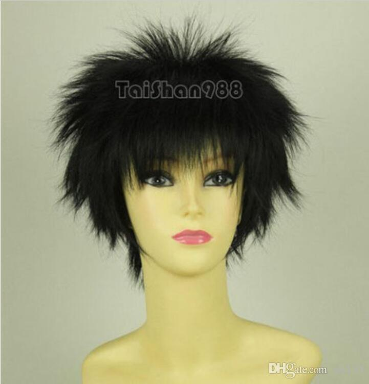 Heißer Verkauf Mode Kurze Schwarze Gerade Party Cosplay Frauen Haar Perücke Perücken + Cap