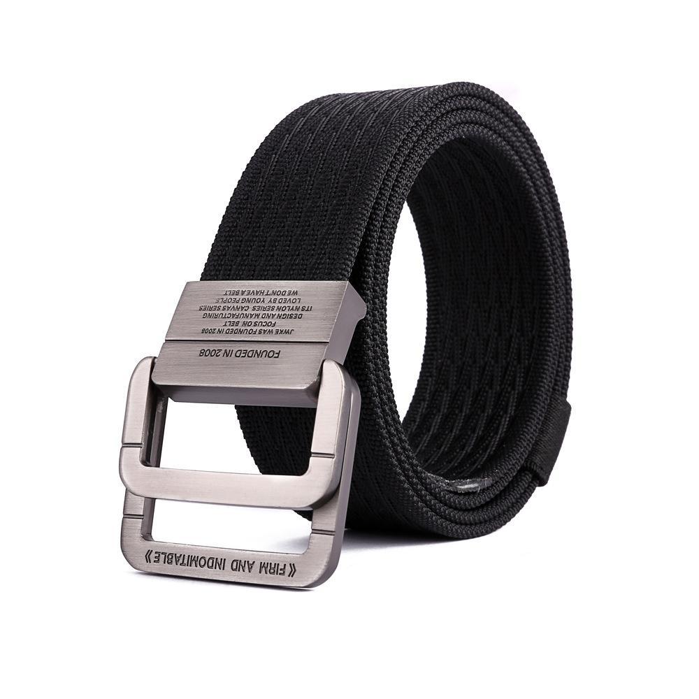 Cinturones de lona negros Hombres Caza Jeans Cinturones Hombre Ejército Táctico Mujeres Hebilla Cintura Casual Nylon Cinturón Ceinture Homme