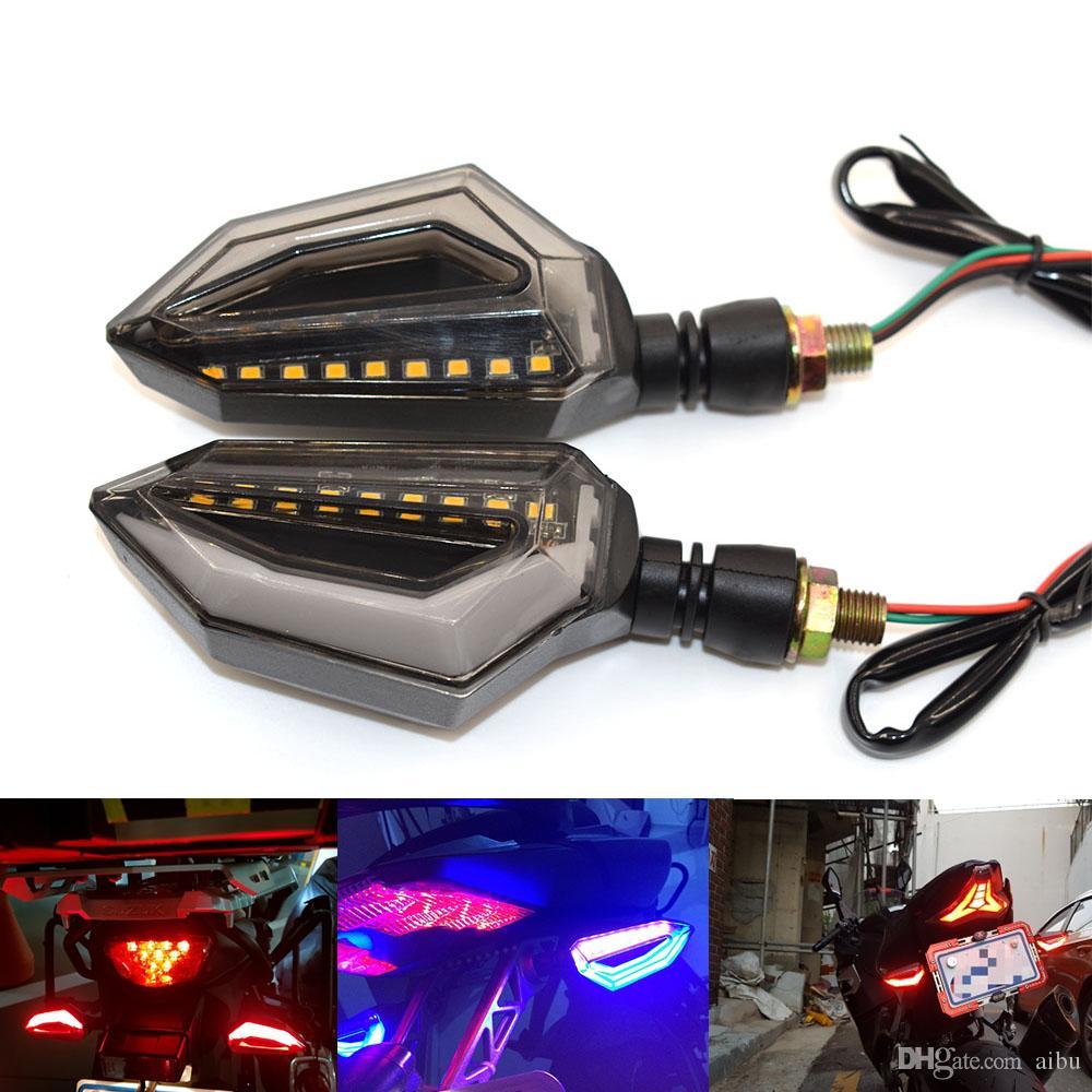 오토바이 용 LED 유연한 방향 지시등 가와사키 ZX600 닌자 ZX-6R ZX6R ZX900 ZX-9R ZX750-H1 ZX7R ZX12R 용 호박색 표시 등