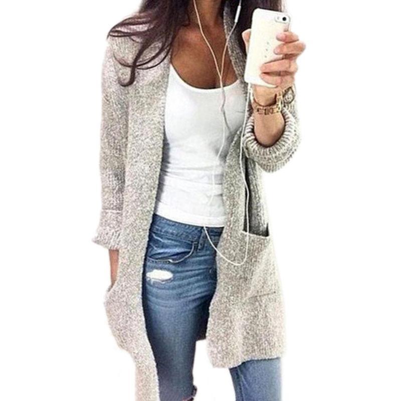 2018 Pull Cardigans Hiver Automne Femmes Crop Tops Manteau À Manches Longues Manteau Tricots Chandail Solide Plus La Taille 5XL
