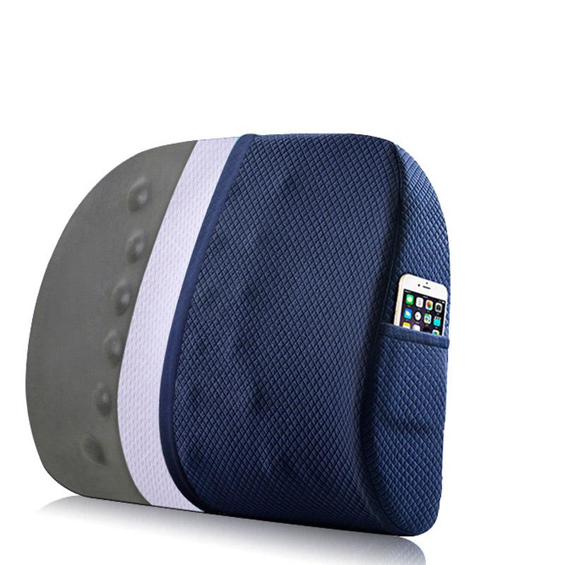 Memory Foam Pillow Lumbar Support For Office Chair Coccyx Seat Cushion Orthopedic Waist Massage Bamboo Charcoal Car Back Cushion