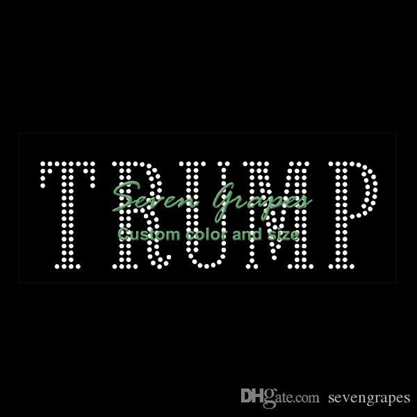 Trump Rhinestone Heat Eisen auf Transfers Großhandel für Kleidung