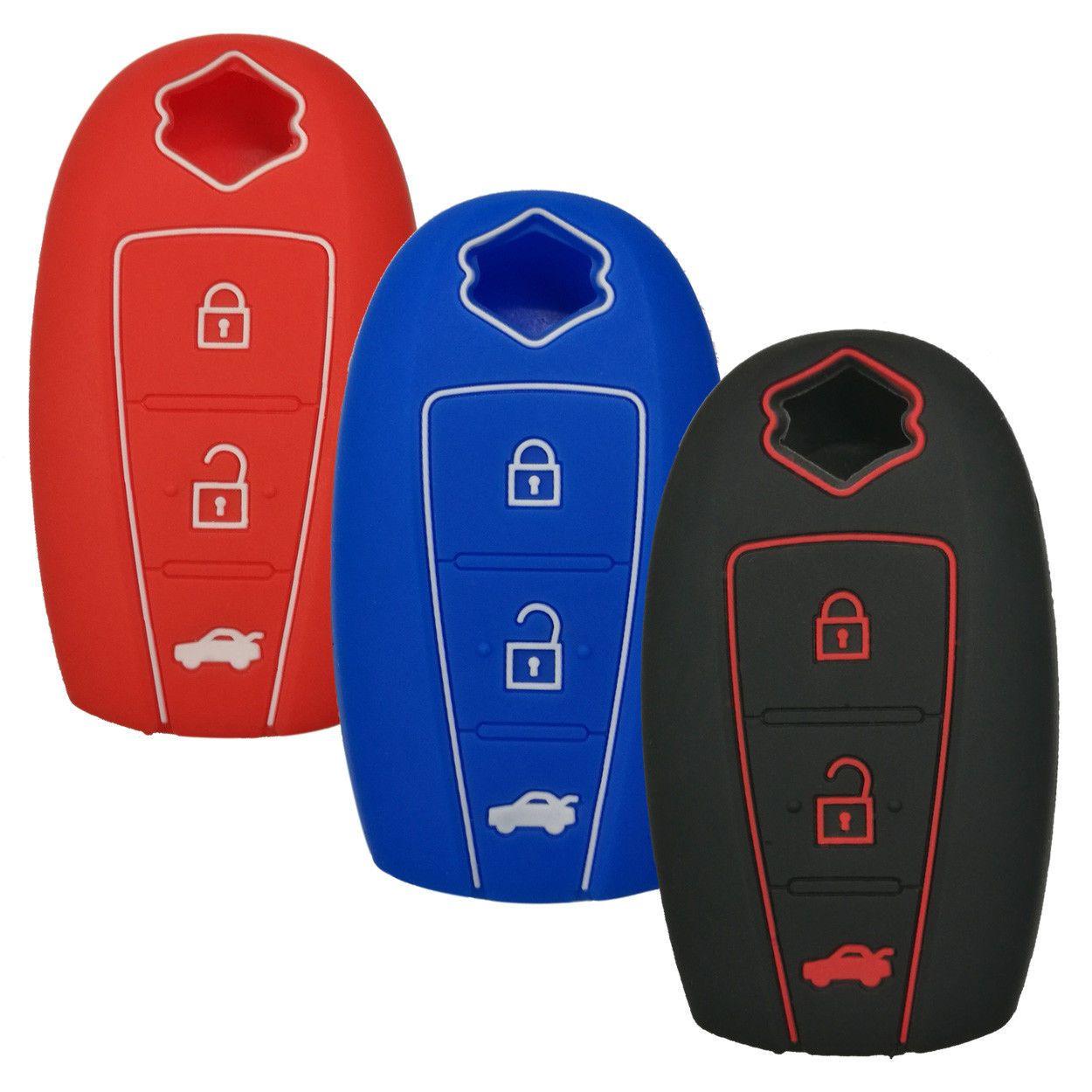 Black Fob Remote Key Case Cover Holder for SUZUKI S-Cross Swift SX4 Kizashi Gift