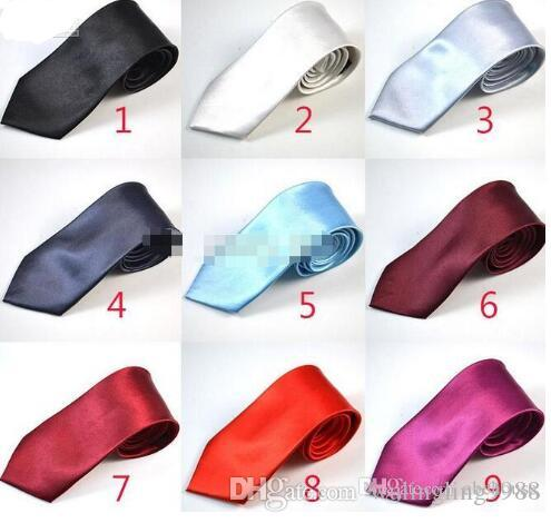 New Arrive 7CM Mens Necktie Neck Tie Fashion Solid Color Wedding Ties Men Accessories Free Shipping
