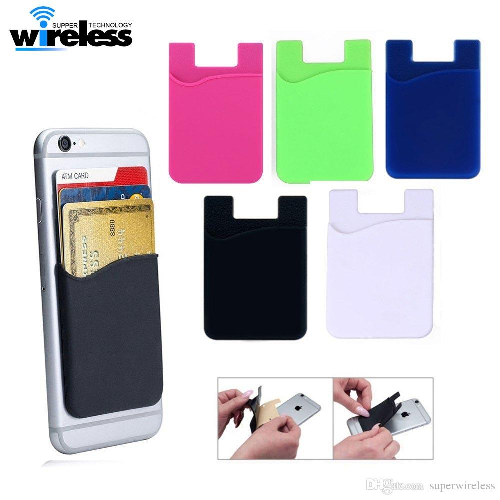 Phone Card Holder >> Phone Card Holder Silicone Cell Phone Wallet Case Credit Id Card