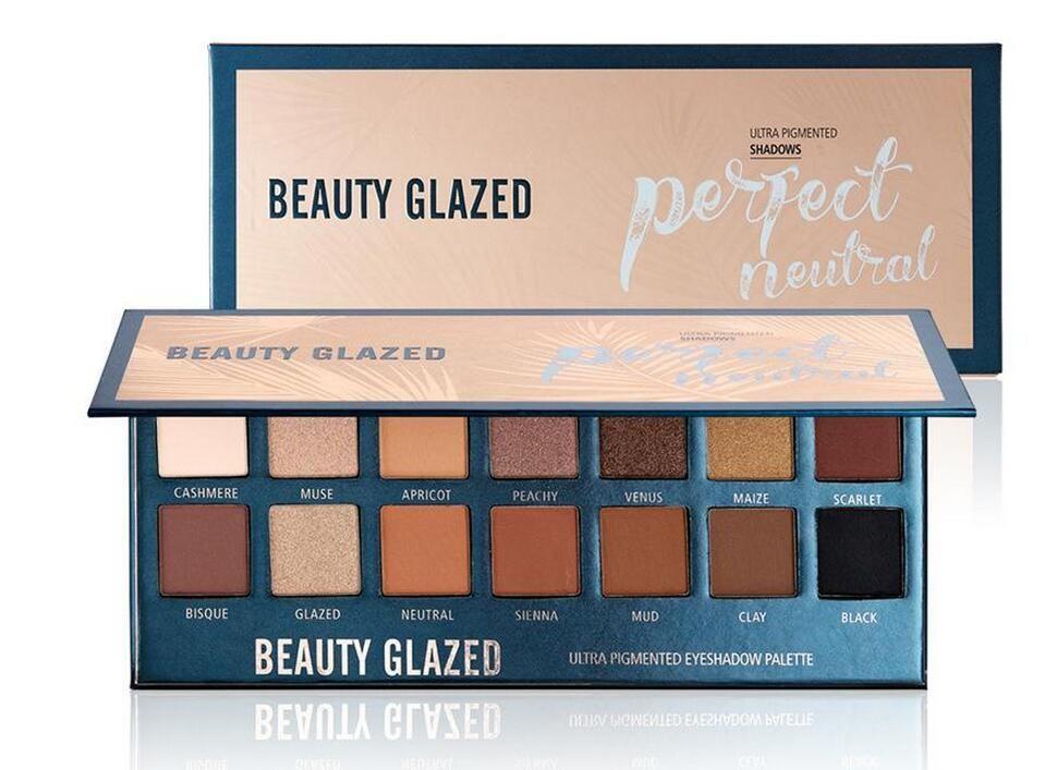 YENI Sıcak Makyaj Güzellik Sırlı 14 renkler Mükemmel Nötr Göz Farı Paleti Ultra Pigmentli Pırıltılı Göz kozmetik DHL kargo
