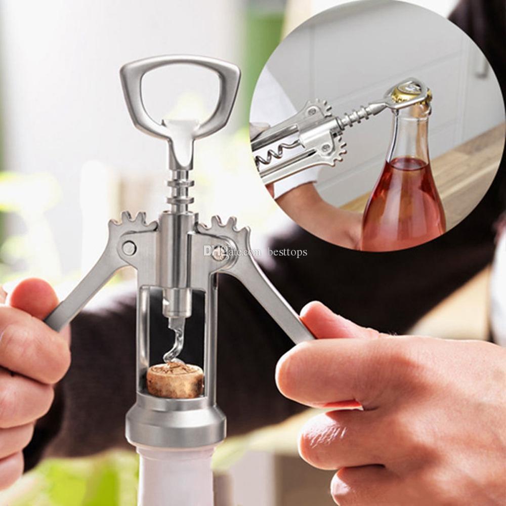 Depory Abridor de botellas de vino tinto,Sacacorchos de Camarero Fabricado en Acero Inoxidable