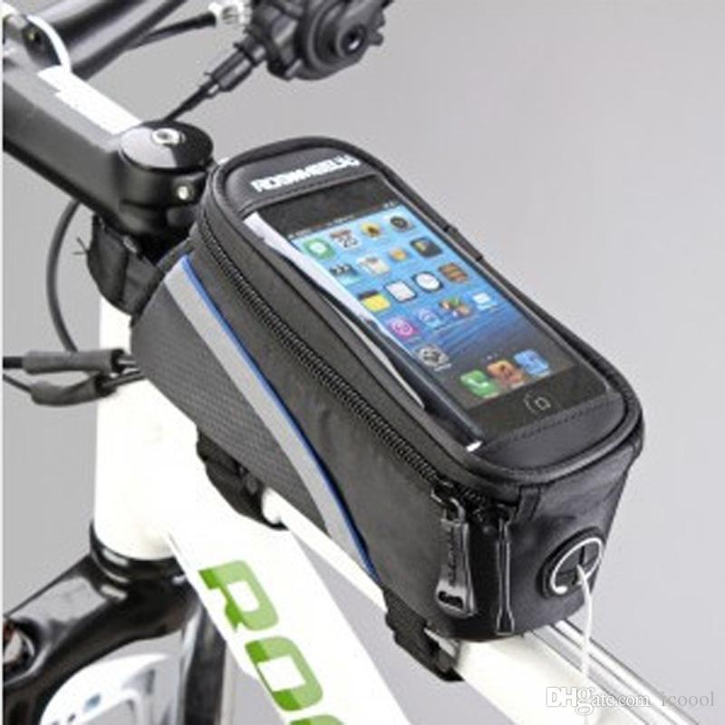 """Roswheel 4.2"""" 4.8"""" 5.5"""" Zoll Wasserdicht Schwarz Radfahren Fahrradlampe vor Telefon-Beutel-Kasten-Halter-Zip-Beutel für iPhone Handy Handy"""