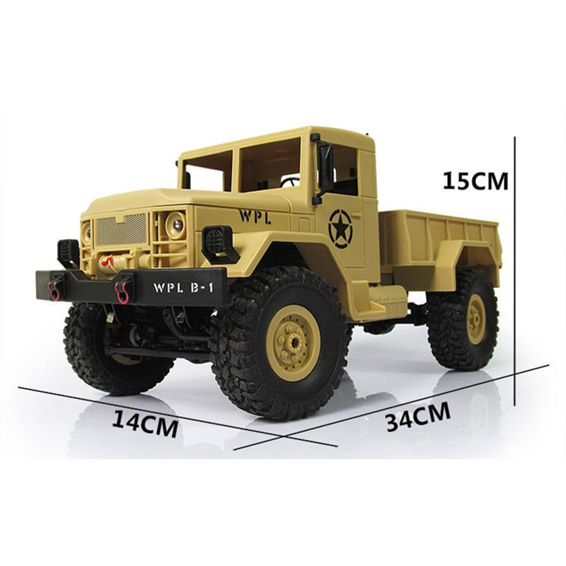 New Design Wpl Wplb -1 Rc Military Truck 1 :16 2 .4g 4wd Crawler Rc Car With Light Rtr Toy Mini Off -Road Car Gift For Boy Children