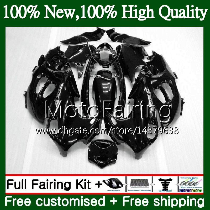 Cuerpo negro brillante para SUZUKI KATANA GSXF 600 750 GSXF600 98 99 00 01 02 21MF1 GSX600F GSXF750 1998 1999 2000 2001 2002 Fairing Bodywork