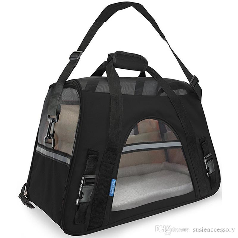 L size Fashion Pet Dog Carrier Portable Puppy Cat Carriers Handbag Outdoor Travel Bag Side Carry Bags 11 Colors