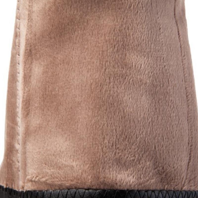 Großhandel LebaLuka Größe 33 43 Damen High Heel Stiefel Winter Fell Warme Knie Stiefel Frau Schuhe Kristall Mode Lange Schuhe Schuhe Von Pinkvvv,