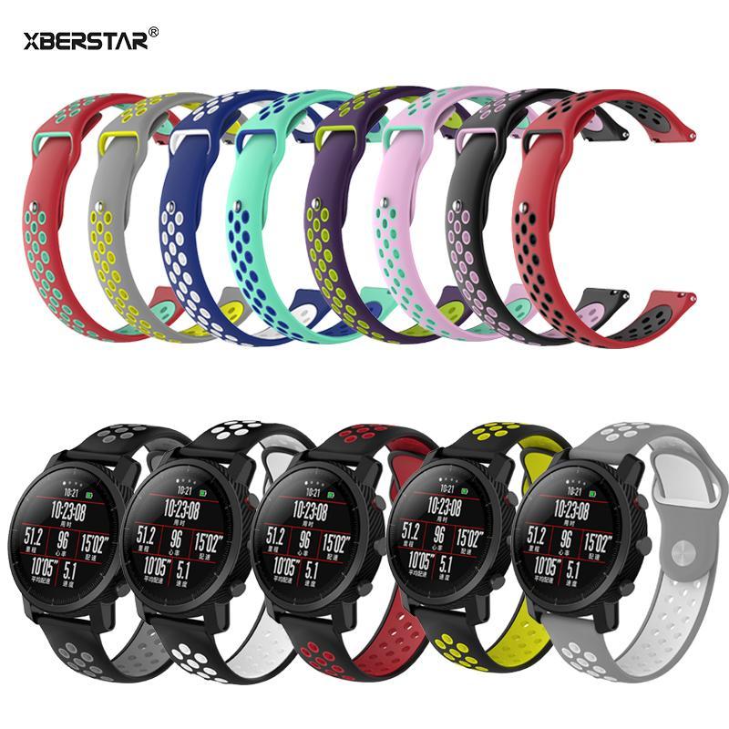11 cores Silicone Sport Wrist pulseira para ZTE Fóssil de Quartzo Q MARSHAL gen2 Inteligente Pulseira Pulseira