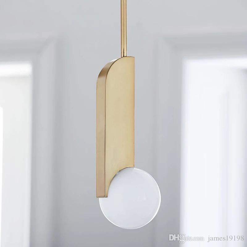 Leite LEVOU Pingente luz de vidro bola chapeamento de ouro Luminária Para Quarto Inoxidável Art Hotel Parlour Suspensão Casa lighing G778