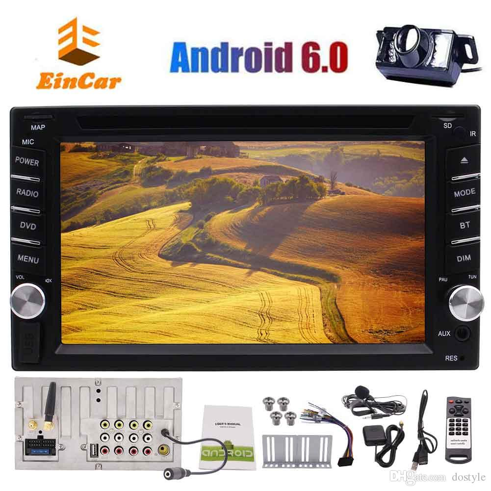Eincar Android 6.0 System 6.2'' Car GPS Navigation Stereo Autoradio Wifi Bluetooth Double 2 Din car DVD Player In Dash Autoradio