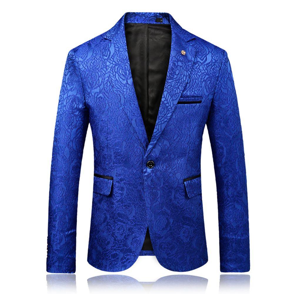 2018 Yeni Erkek Yüksek Kalite İş Suit Ziyafet En Popüler Basit Vintage Çiçek Ceket Moda Erkek Blazer Slim Fit Coat Takımları