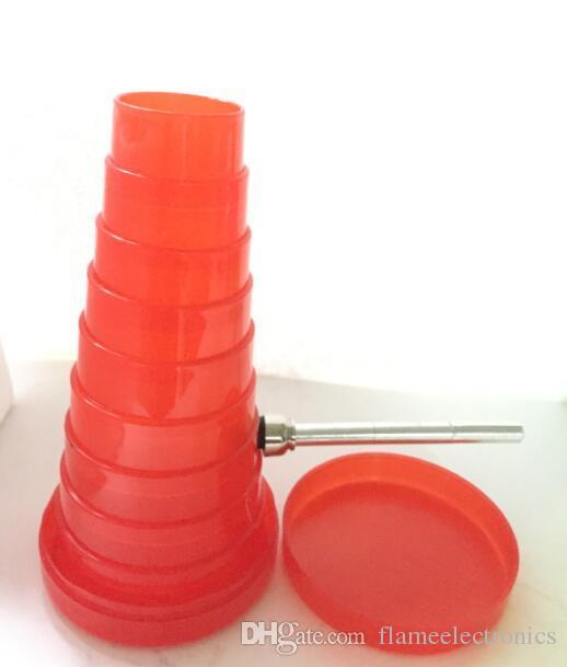 Super Pocket Collapsible Bong Plastic Bong Acrylic Bongs Flexible Water Pipe Rocket Tobacco Bong Collapsable Bongs Travelling Pipe