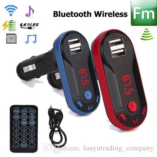 Modellatore senza fili del trasmettitore del FM FM del lettore MP3 dell'automobile di vendita calda 2018 del corredo di vendita calda con il telecomando 50pcs che spedice liberamente DHL