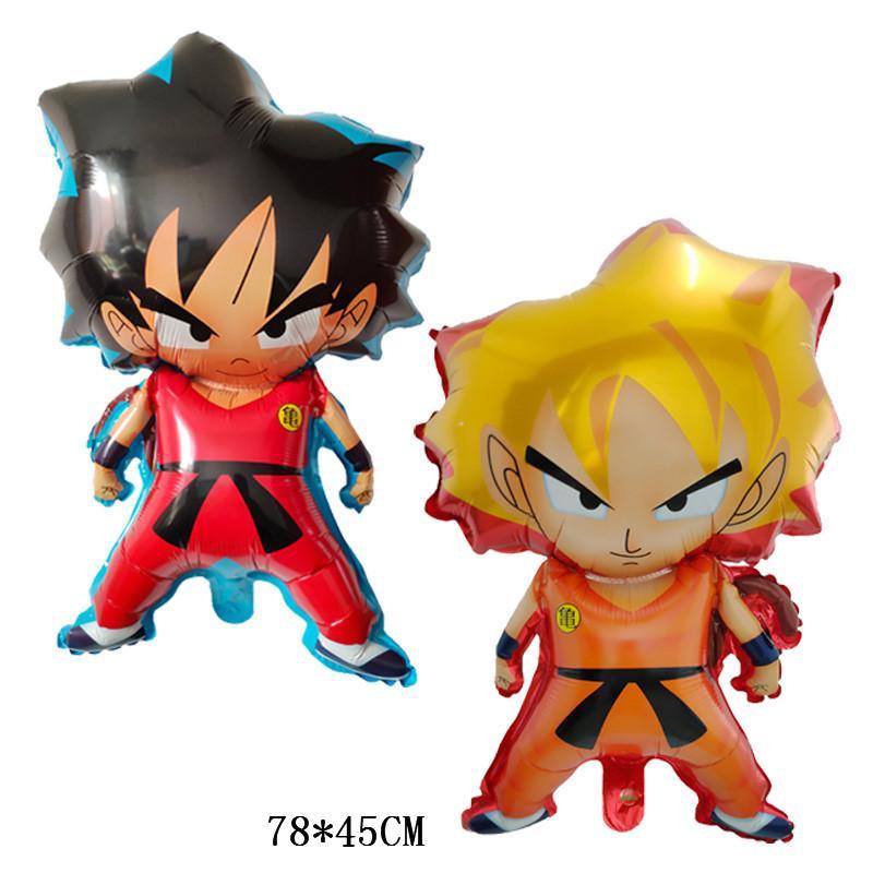 10pcs / lot 78 * 45 cm Z Fils Goku Dragon Ball Feuille Ballons Garçon Fête D'anniversaire Super Ball Décor Fournitures Air Globos Cadeau Pour Enfants